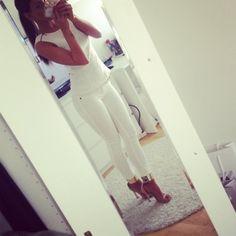 Skinny/White dress