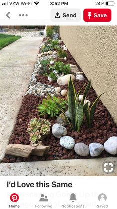 Front Yard Garden Design I'd Love this Same Landscaping Going Up the Garage Side of Our Front Walkway Rock Garden Design, Garden Design Ideas, Garden Yard Ideas, Cute Garden Ideas, Diy Garden, Garden Decorations, Backyard Ideas, Front Yard Landscaping, Landscaping Ideas