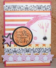 birthday card using Xyron adhesive