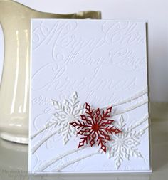poppystamps snowflake ribbon die - Google Search