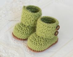 Cashmere Avocado Baby Booties - Crochet Pattern by Hopeful Honey Baby Booties Knitting Pattern, Baby Shoes Pattern, Crochet Baby Boots, Crochet Baby Sandals, Booties Crochet, Baby Patterns, Baby Knitting, Crochet Patterns, Knitting Patterns