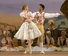 Marianela Nunez and Carlos Acosta. La Fille Mal Gardee.  The Royal Ballet