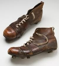 vintage cycling shoes - could be vintage rugby or football boots as well??!  www.legend-s.co.uk