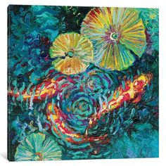 Iris Scott is an oil finger painting artist based in New York City, Brooklyn. Iris makes her color-saturated canvases burst with. Koi Painting, Finger Painting, Artist Painting, Painting Prints, Art Print, Sunflower Canvas, Canvas Wall Art, Canvas Prints, Buy Prints
