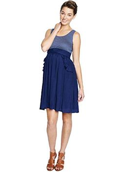 e6db7cb89fbf3 Maternal America Ruffle Pocket Maternity Dress Navy Check Medium * Want to  know more, click on the image.(It is Amazon affiliate link) #instadaily