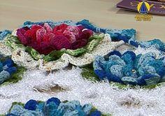 Sabor de Vida | Tapete com Flores Azul por Maria José - 15 de Agosto de ...