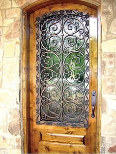 Since it's only a fraction of the weight of wrought iron, Tableaux Faux Iron can be used to dress up walls, windows and doors inside or out. At Budget Blinds of Boise Door Design, House Design, Budget Blinds, Wrought Iron Doors, Porche, Tuscan Decorating, Iron Decor, Iron Wall, Door Knockers