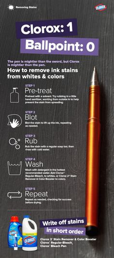 Tips for removing ink stains.