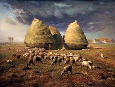 Jean Francois Millet Haystacks Autumn painting is available for sale; this Jean Francois Millet Haystacks Autumn art Painting is at a discount of off. Vincent Van Gogh, Millet Paintings, Claude Monet, Jean Francois Millet, Barbizon School, Munier, Autumn Painting, Poster Prints, Art Prints