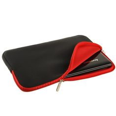 [USD2.25] [EUR2.05] [GBP1.61] Soft Sleeve Case Zipper Bag for 15 inch Laptop(Red)