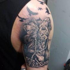 Hades Tattoo, Zeus Tattoo, Tattoo Bein, Thor Tattoo, Arm Tattoo, God Tattoos, Leg Tattoos Women, Body Art Tattoos, Tatoos
