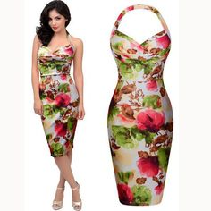 Dress Coloured Multi Pencil Print And Ivory Bodycon White Floral w6fTSpSq