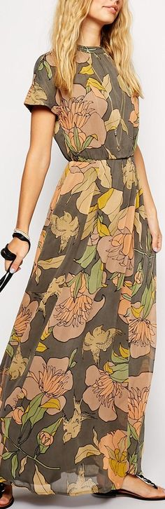 floral maxi- So easy wearing and nicely modest up top as well! :)
