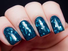 Chalkboard Nails: Starrily Sea Glass  I have never seen a polish like this! Incredible!