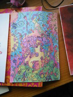 Elfos, lápices de colores, 2012