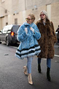 The Furry Coat, nyfw street style, #nyfw, fur coat, street style