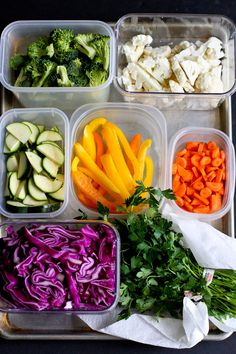 How to Prep Vegetables for the Week, from Dara @cookincanuck! Such a simple way to make your weekly cooking go super smooth.