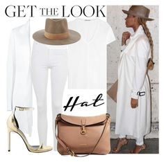 """""""Queen B"""" by carolsposito on Polyvore featuring moda, Topshop, Helmut Lang, Calvin Klein Collection, Yves Saint Laurent, Burberry, Janessa Leone, GetTheLook e hats"""