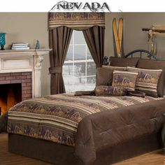 Nevada Horse Western Bedding Comforter or Duvet Set & Accessories #Western #Bedroom #Decor #DelectablyYours #Bedding