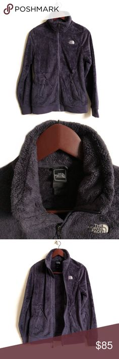 The North Face Jacket ▫️The North Face Fleece Jacket Stand collar▫️Full-length zip. ▫️Zip hand pockets. ▫️Straight hemline. ▫️Logo embroidery at the chest and back shoulder. ▫️Fleece: 100% polyester▫️Color: Blue/Grey▫️Excellent Preowned Condition 🚫No Trades🚫 The North Face Jackets & Coats