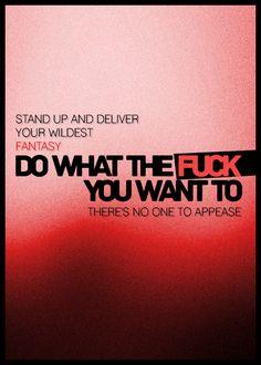 Muse ..lyrics off 2nd Law album.. Panic Station