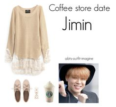 """coffe store date (jimin)"" by bts-outfit-imagine ❤ liked on Polyvore featuring art, simple, kpop, korean, bts and jimin"