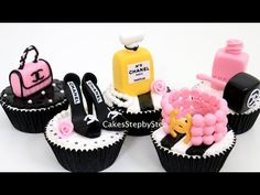 CHANEL Fashion CUPCAKES | How To Make by Cakes StepbyStep - YouTube