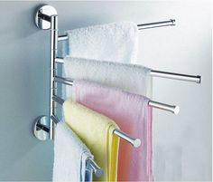 Cheap holder toothbrush, Buy Quality holder card directly from China holder service Suppliers: Freeshipping BAKALA Fashionable space aluminum 5 bars flexible 180 degree rotating moving Towel rack towel rail towel rod Towel Rack Bathroom, Bathroom Storage, Bath Towels, Steel Railing Design, Towel Rod, Towel Bars, Wardrobe Design Bedroom, Clothes Drying Racks, New Chrome