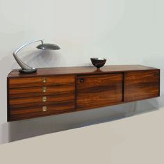Robert Heritage Archie Shine wall mounted sideboard rosewood