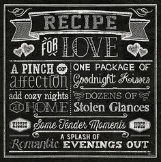 'Recipe For Love' Canvas Wall Art