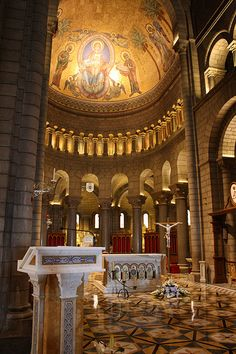 Monaco Cathedral. Princess Grace and Prince Rainier are entombed here.