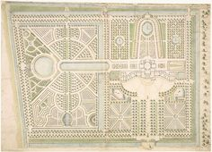 Garden plan/design artwork --- Design of the garden of palace Huis ten Bosch, The Hague, The Netherlands by the architect Daniël Marot. Map is kept at the city archive of The Hague. --- This work is in the public domain in the United States because it was published (or registered with the U.S. Copyright Office) before January 1, 1923.