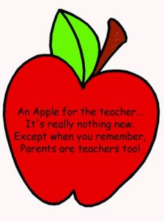 Place an apple in a bag with this attached-for Parent Teacher Conference OR first day.