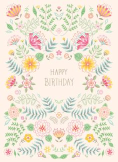 Pimlada Phuapradit - Floral Card_happy Birthday