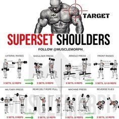 SUPERSET SHOULDER WORKOUT EXERCISE PROGRAM #virileman5