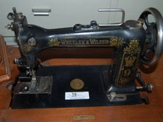 Wheeler Wilson Treadle Sewing Machine Sewing Art, Sewing Toys, Love Sewing, Sewing Patterns, Treadle Sewing Machines, Antique Sewing Machines, Wonderful Machine, Sewing Machine Accessories, Haberdashery