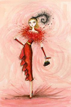 """Starlet in Red"" By Bella Pilar Canvas Print #BPR207"