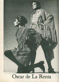 Harper's Bazaar, September 1969, capes by Oscar de La Renta