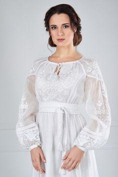 Сукня вишита білим по білому, фото 3