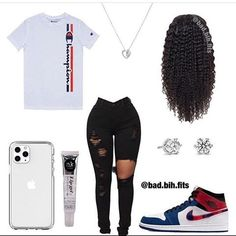 Don't kno how I feel abt dis fit, buh it was requested. - - Wear or Tear? Rate this fit out of be honest. (If viewing make sure to… Swag Outfits For Girls, Teenage Girl Outfits, Teen Fashion Outfits, Cute Casual Outfits, Girly Outfits, Dope Outfits, Simple Outfits, Tween Fashion, Latest Fashion