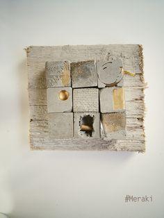 My Meraki Reperti urbani 02. Cemento, metallo, cavo elettrico, legno da cassero.