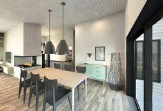 Plan de maison Ë_146 | Leguë Architecture Plane, Architect Design, House Plans, Conference Room, House Design, Architecture, Table, Furniture, Home Decor