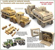 Super ReallyWood Desert Storm Tank Carrier Wood Toy Plan Set: