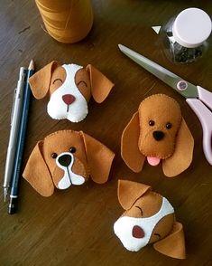 Diy Crafts - -felt fabric crafts fabriccrafts DIY Japanese Folk Art Mobile Strap Fabric kit Can make 4 kitten --- Japanese Craft Kit (Just use gl Felt Crafts Diy, Dog Crafts, Fabric Crafts, Sewing Crafts, Sewing Projects, Crafts For Kids, Felt Christmas Ornaments, Christmas Crafts, Felt Dogs