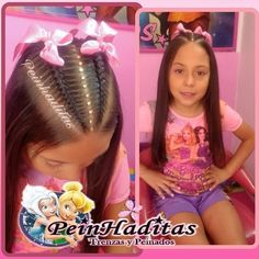 #Trenzasypeinados #Peinhaditas Cute Girls Hairstyles, Princess Hairstyles, Girl Hair Dos, Cornrows, My Princess, Hair Color, Hair Accessories, Lady, Hair Styles