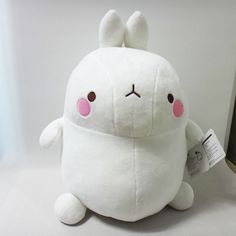 New Molang White Plush Doll 41cm 16in Medium Size Cute Rabbit Bunny Character  #Molang #Dolls
