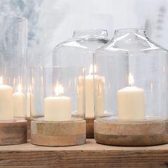 Gorgeous Glass Hurricane Lanterns