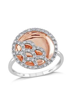 .25CT Diamond Ring In Pink & White Gold... Can we say perfect right hand ring!