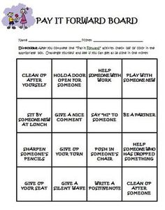 Pay It Forward Behavior Intervention Unit.  This would be great to use during anti-bullying week. Our school could certainly use these ideas!