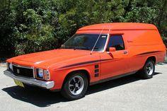 Had a HJ Holden Sandman Panelvan but hot magenta Holden Australia, Aussie Muscle Cars, Australian Cars, Panel Truck, Cool Vans, Custom Vans, Car Brands, Ford Gt, Station Wagon